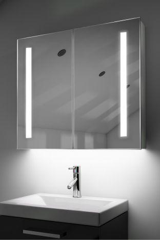 Briony demister bathroom cabinet with colour change under lighting