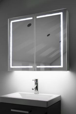 Deetra demister bathroom cabinet with colour change under lighting