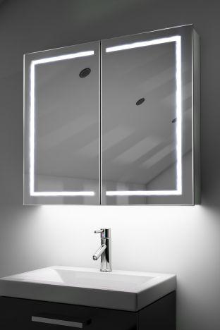 Deetra demister bathroom cabinet with Bluetooth audio & ambient under lights