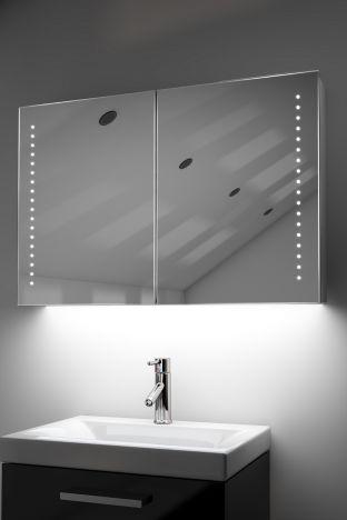 Fedor demister bathroom cabinet with ambient under lighting