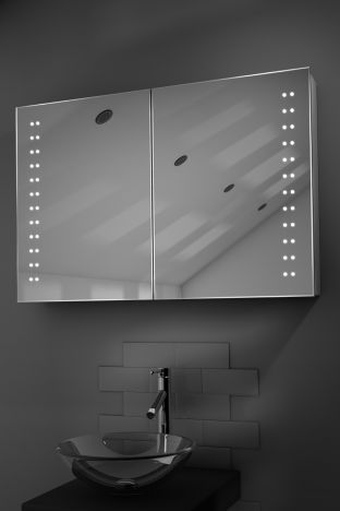 Galan demister bathroom cabinet with Bluetooth audio