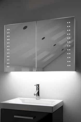 Galan demister bathroom cabinet with Bluetooth audio & ambient under lights
