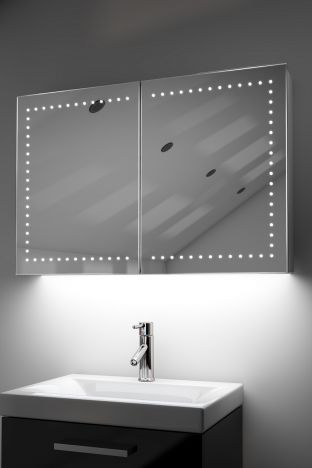 Hestia demister bathroom cabinet with ambient under lighting