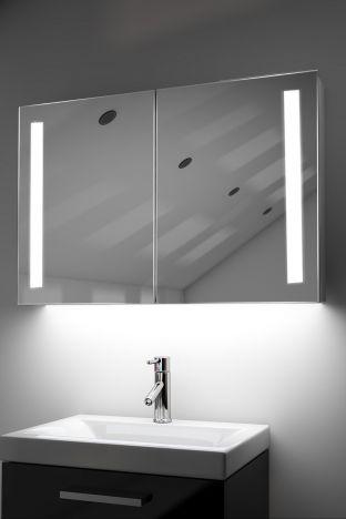 Julius demister bathroom cabinet with Bluetooth audio & ambient under lights