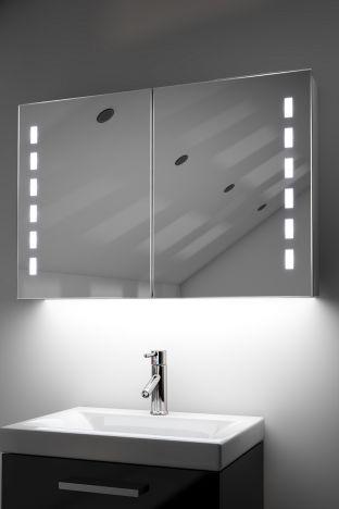 Kasin demister bathroom cabinet with colour change under lighting