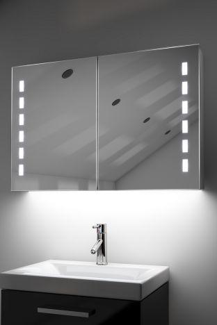 Kasin demister bathroom cabinet with Bluetooth audio & ambient under lights