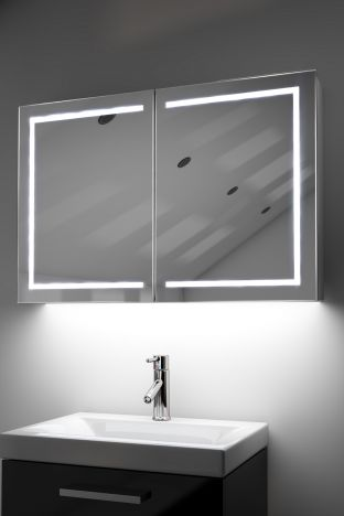 Lea demister bathroom cabinet with ambient under lighting