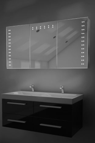 Aletha demister bathroom cabinet with Bluetooth audio
