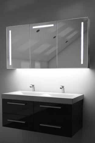 Cali demister bathroom cabinet with colour change under lighting