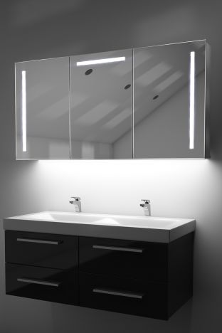 Cali demister bathroom cabinet with ambient under lighting