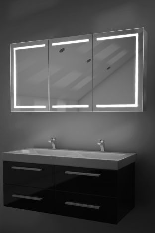 Eliza demister bathroom cabinet with Bluetooth audio