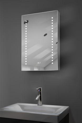 Achilles digital clock LED bathroom cabinet