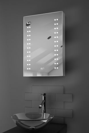 Balta digital clock demister bathroom cabinet