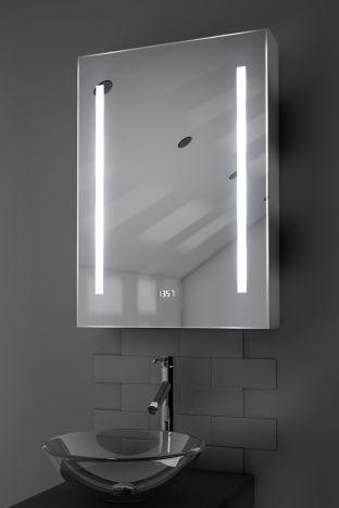 Jace digital clock LED bathroom cabinet