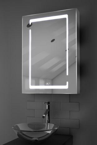 Marilis digital clock demister bathroom cabinet