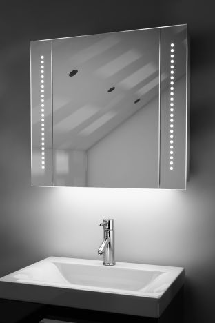 Astound demister bathroom cabinet with ambient under lighting