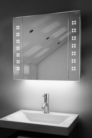 Amaze demister bathroom cabinet with ambient under lighting