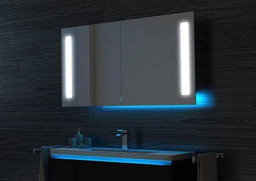 Illuminated Bathroom Cabinets With, Light Up Bathroom Mirror Cupboard